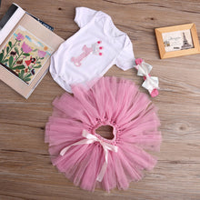 Bodysuit + Bow Headband + Pink Tutu Skirt