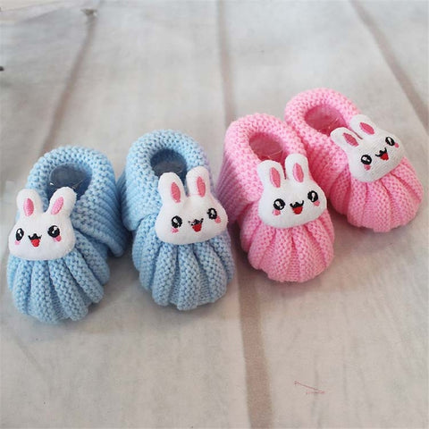 Cartoon Cotton Soft Woolen Shoes First Walkers One Size