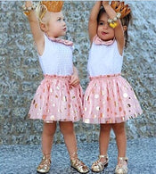 Dot Sequins Bow Sleeveless Tutu Tulle Lovely Summer Dress