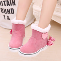 Thick Warm Snow boots Cotton-Padded Suede Fringe
