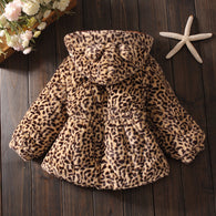 Winter Warm Leopard Section Coat For 1-4 Years Old