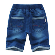 Casual Elastic Waist Boy Shorts Denim jeans