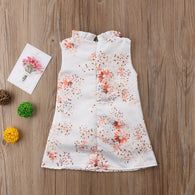 Princess Sleeveless Floral Mini Dress Party
