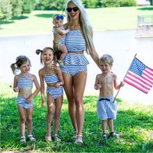 Bikini Set Striped Family Matching Swimwear