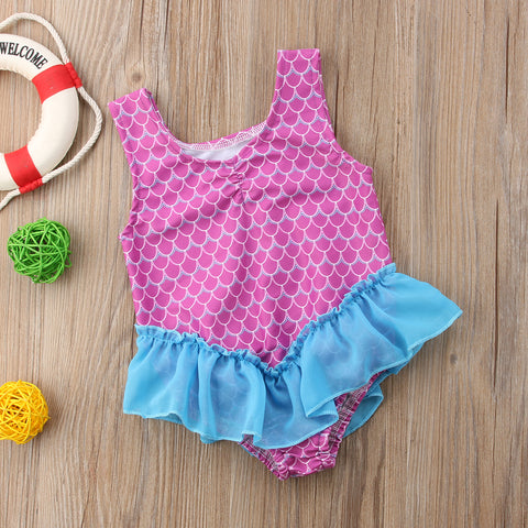 Ruffles Bikini Scales One Piece