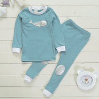 Cute Cartoon Warm Underwear Sets Long Sleeve T-shirt + Pants