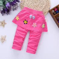 Cute Bow Calf-length Pants