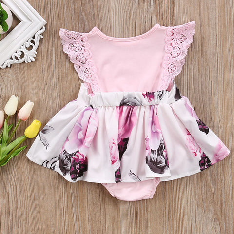 Sister Flower Flying Sleeve Dress