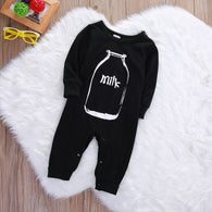 Long Sleeve Bottle Milk Romper