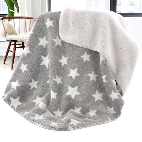 Baby Blanket Thermal Coral Fleece Star Blanket