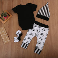 Skeleton Romper Jumpsuit + Long Pants + Hat + glove