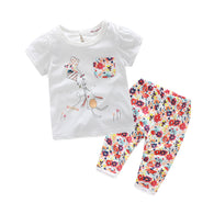 Clothing Sets Cotton T-Shirt + Pants 2pcs