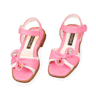 Leather Shoes Summer Girls Princess Diamond Bow Sandals