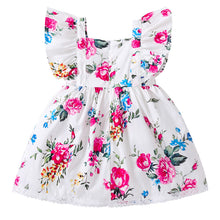 Ruffle Sleeved Floral Princess Party Dress