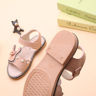 Cute Rabbit Ankle-Wrap Sandals for Girls Summer