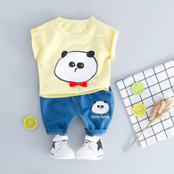 Cute Panda  Baby Boys/Girls Clothes Set