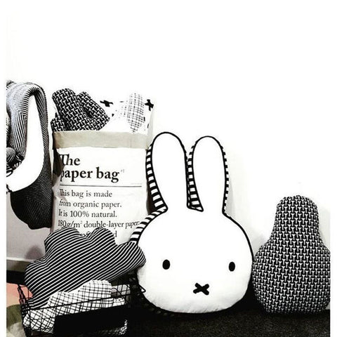 Cute bunny rabbit, baby pillow room bed decor