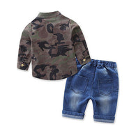 Hot Camouflage Top + Jeans