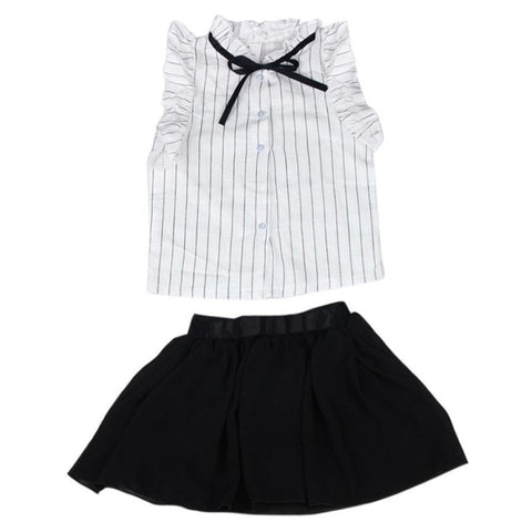 Two Pieces Set Clothes Skirt Suit Summer Sleeveless