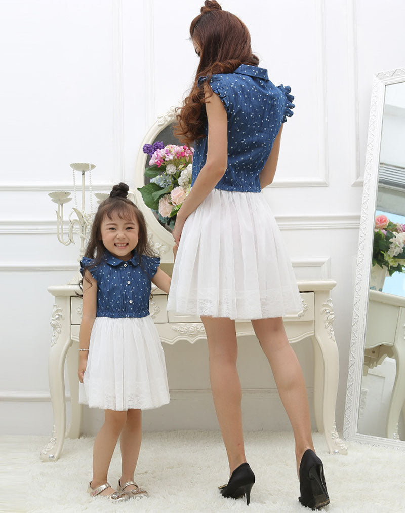 2ec5937bf518 Mom and Daughter Dress Matching Outfits Dress for Kids and Women ...
