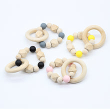 1PC Teething Natural Round Wood Bracelet