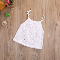 Toddler Baby Girl Openwork Crochet Lace Blouse Newborn Kids braces  Top Tee
