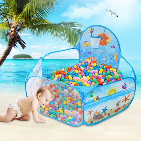 Cartoon Game Ball Pits Portable Pool  With Basket