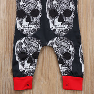 Cool Clothes One-pieces Skull Head Hooded Romper