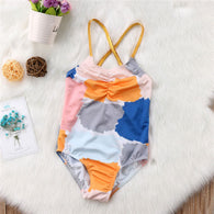 For Newborn Baby Girl Floral Print One-Piece Swimwear