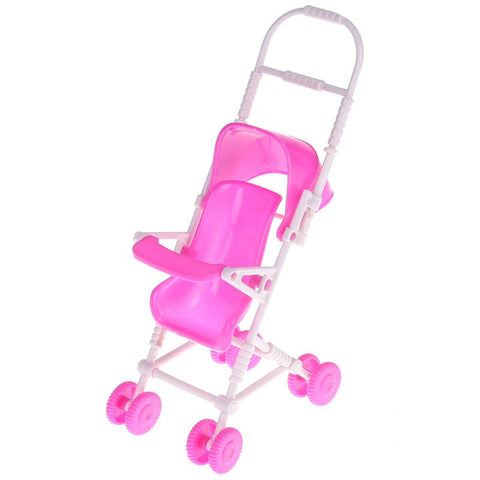 Pink Baby Stroller for Barbie Doll Toy