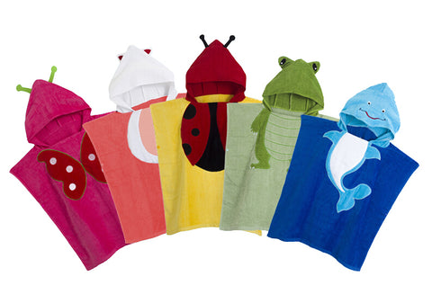 5 Colors Baby Hooded Poncho kids bath towel