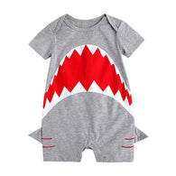 Summer Cotton Shark Romper
