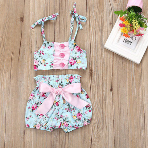 Summer 2018 Bikini Swimwear for Girls 2pcs Set Bikini Set