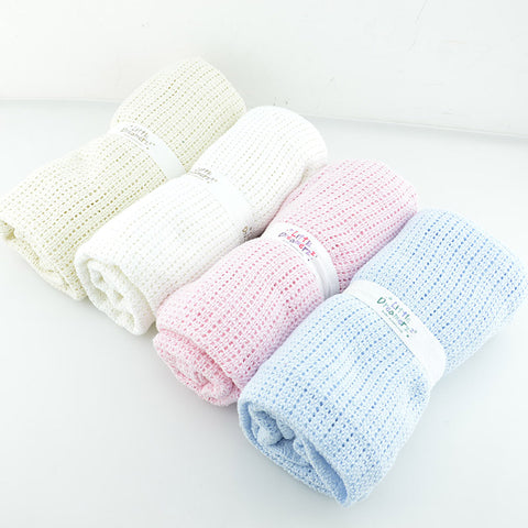 Baby Blanket Newborn Swaddle Wrap Crochet - Blankets Super Soft Cotton