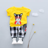 Summer Baby Boys Clothes Suits Clothing Sets T- Shirt+Pants 2 Pcs Casual