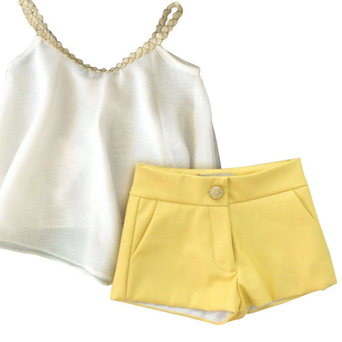 Sleeveless Sling Chiffon Vest + Shorts Kids Set