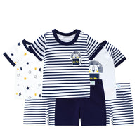 Summer Newborn Baby Outfits Children Suits Baby Boys /Girls Clothes Set Cotton Stars Outfit