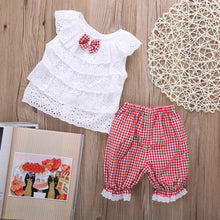 Baby Girls Outfit Clothes Casual T-shirt Pierced Tops+short Pants Trousers 2 PCS