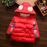 Cartoon Animals Warm Kids Jacket