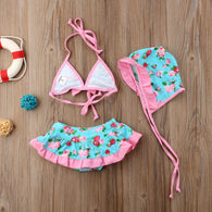 Floral Bikini Suit Costume Swimwear