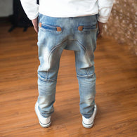 Boys pants 2018 new autumn jeans doll cotton