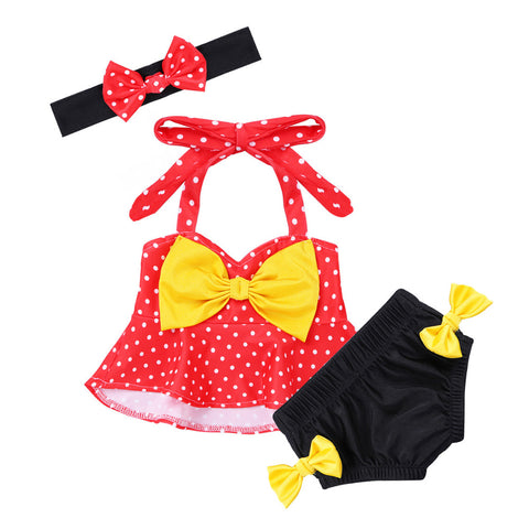 Set Halter Polka Dots for Swimming