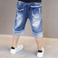 cotton letter trousers shorts jeans
