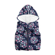 Cartoon Pattern Print Costume Hood Sleeveless Zipper Vest