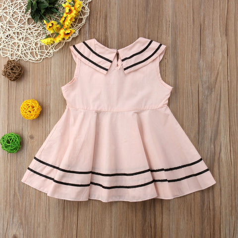 Preppy Style Sleeveless Sundress 1-6T