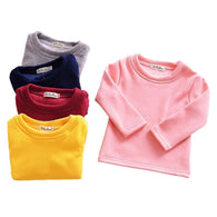 O-neck Shirt Girls Long-sleeved