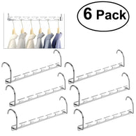6pcs Wardrobe Closet Bar Clothes