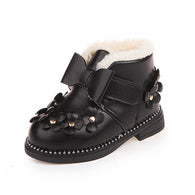 Princess Floral Ankle Snow Boots Keep Warm