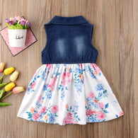 Denim Jeans Tutu Short Mini Dress