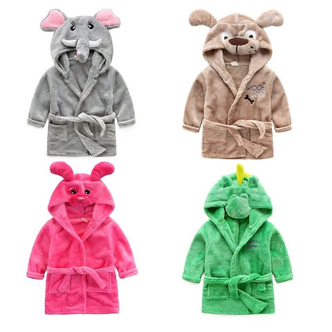 Cute Cartoon Bathrobe Pajama Sets